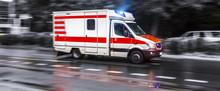 Colored Ambulance Car Speeding...