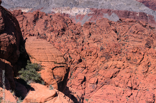 Papiers peints Corail Red rock canyon hill nature landscape background, Las vegas, Nevada USA