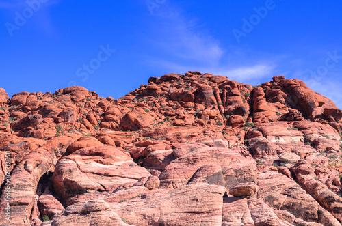 Red rock canyon hill nature landscape background, Las vegas, Nevada USA