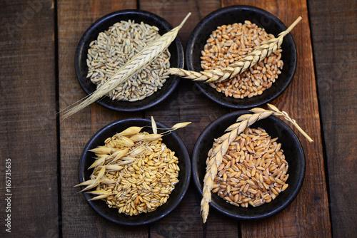Weizen,Roggen,Dinkel,Hafer