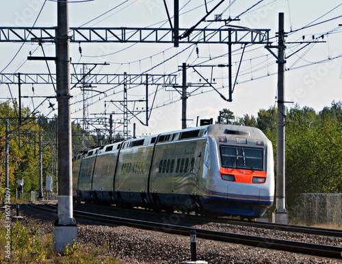 Finnish high-speed train allegro in transit Canvas Print