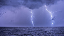 A Lightning Strike On The Adriatic Sea
