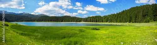 landscape near mountain lake