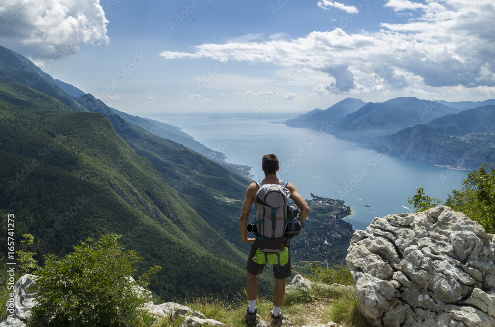 Fototapety, obrazy: Landscape view while trekking