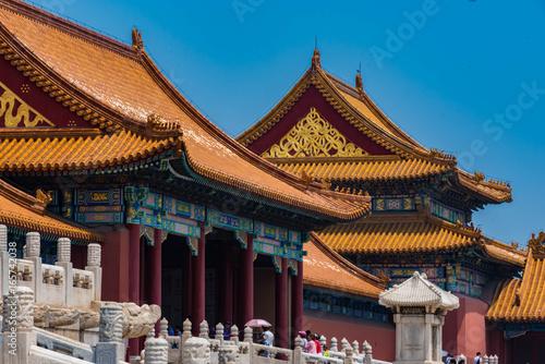 Foto op Aluminium Beijing Halle der höchsten Harmonie, Verbotene Stadt, Peking