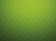 Green Damask Pattern Background