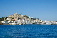 Dalt Vila Of Ibiza Town With Cathedral And Lighthouse