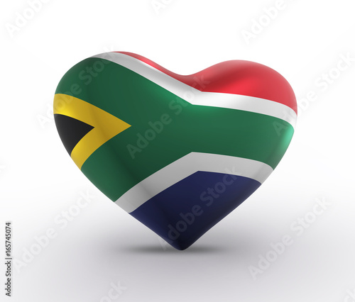 South Africa Flag, S. African Colors (3D Render)