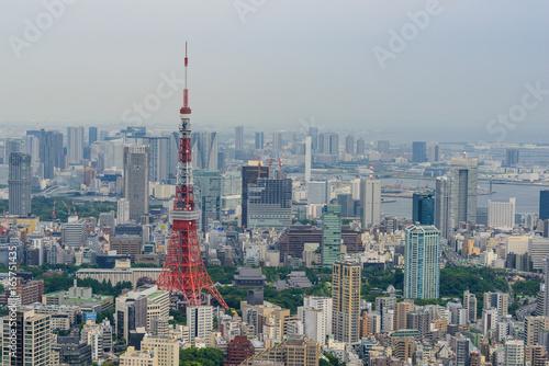 Poster Tokyo 都心の風景と東京タワー
