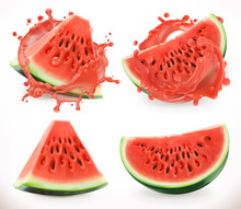 Watermelon Juice. Fresh Fruit,...