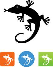Gecko Icon - Illustration