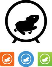 Hamster Wheel Icon - Illustrat...