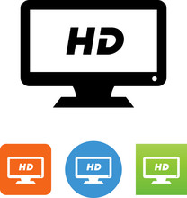 HD Monitor Icon - Illustration
