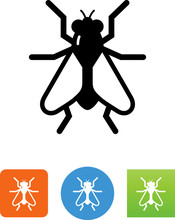 Housefly Insect Icon - Illustration