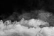 canvas print picture - Smoke fragments on a black background