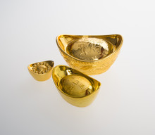 Gold Or Chinese Gold Ingot Mea...