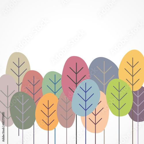 plakat z liści lub drzewa