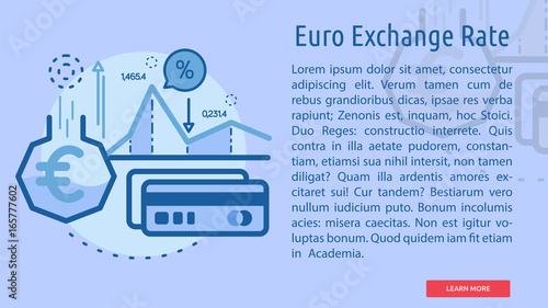 Euro Exchange Rate Conceptual Banner