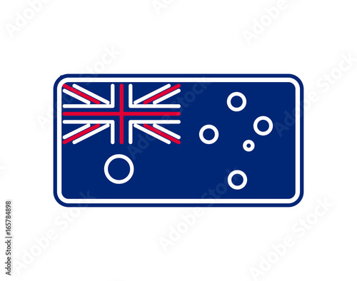 Australia Flag Linear Style Sign Australian National Symbol Buy