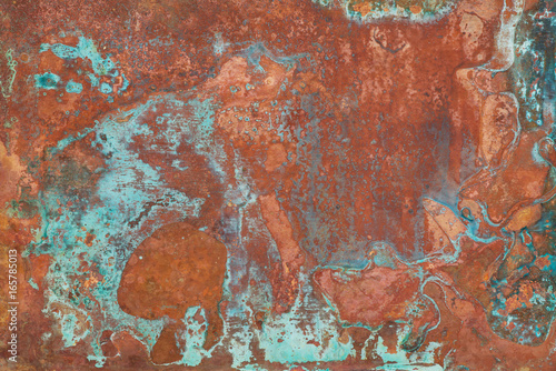 Old copper texture Wallpaper Mural