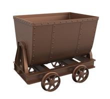 Mining Cart Isolated