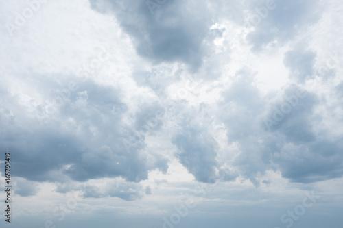 Tablou Canvas ciel nuageux gris sombre pluvieux menaçant pluie mauvias temps météo prévision d