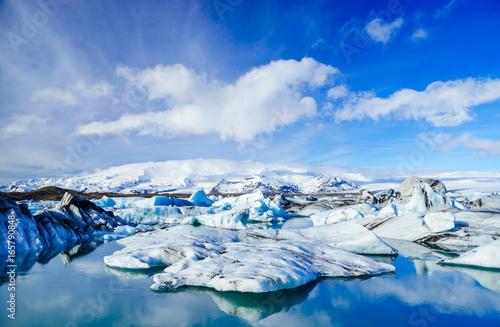 Photo Icebergs in  Jokulsarlon glacier lagoon, Iceland