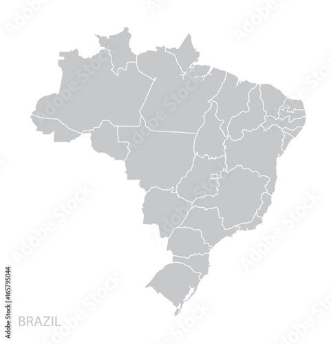 Map of Brazil Canvas