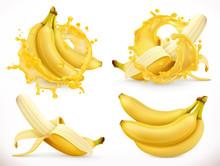 Banana Juice. Fresh Fruit And ...