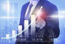 Business Man Steigende Gewinne