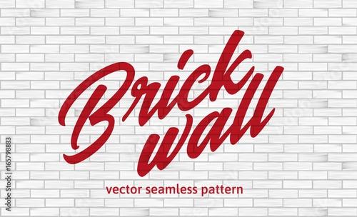 Biała ściana z cegieł tekstura. Wzór.