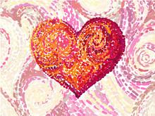 Van Gogh Heart. Vector Illustr...