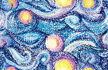 Panel SzklanyVan Gogh background