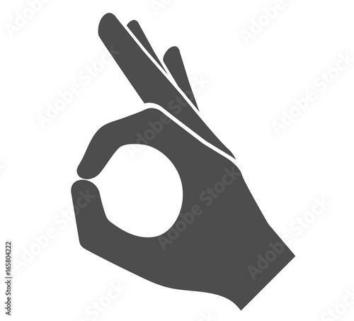 Cuadros en Lienzo Perfect hand sign icon