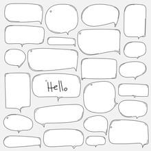 Hand Drawn Bubbles Set.