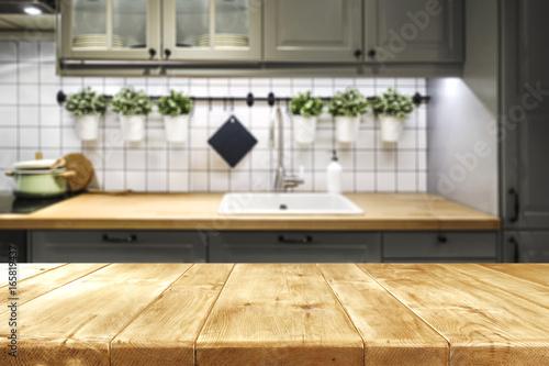 desk space in kitchen Wallpaper Mural
