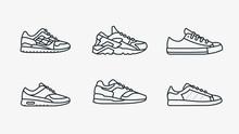 Sneaker Shoe Minimalistic Flat...