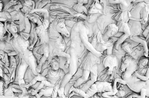 Fotografie, Obraz  Architectural detail of fresco in Rome, ITaly