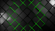 Grey And Green Squares Modern Background 3d Render Illustration