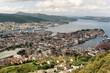 Aerial view of Bergen, Norway