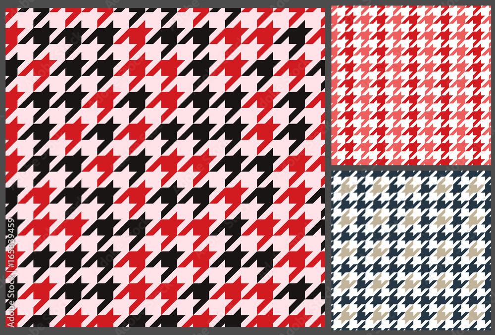 Photo  houndstooth patterns set for clothes