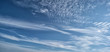 canvas print picture - Blue sky with cirrus clouds