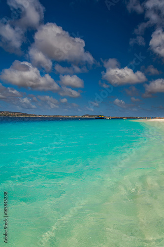 Fotobehang Turkoois Klein Bonaire Beach, capture in this beautiful island close to the Capital of Bonaire, Kralendijk island of the Netherlands Caribbean, with its paradisiac beaches and water.