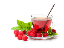 Red  Fruit Tea With Raspberry ...