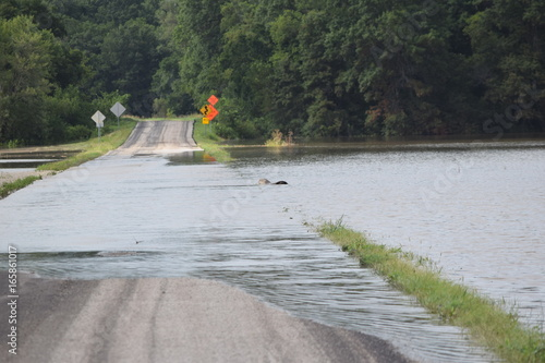 Photo Flooded Road