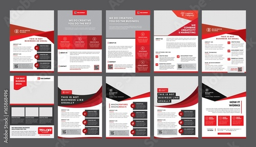 A Bundle Of 10 Templates Of A4 Flyer Template Modern Template In