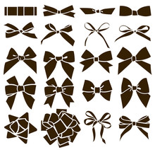 Vector Set Of Decorative Bow S...