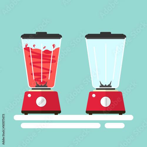 blender fruit juice flat vector Canvas Print