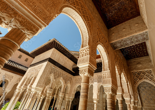 Alhambra palace in Granada, Andalusia Spain