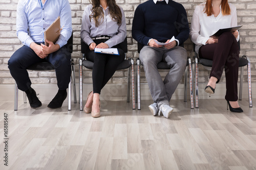 Photo Applicants Waiting For Job Interview